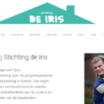 homepage website de Iris